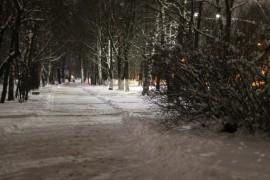 Когда зимой совсем немного снега, г.Гусь-Хрустальный