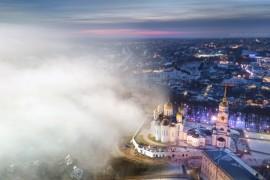 Летний туман в морозном январе, г. Владимир