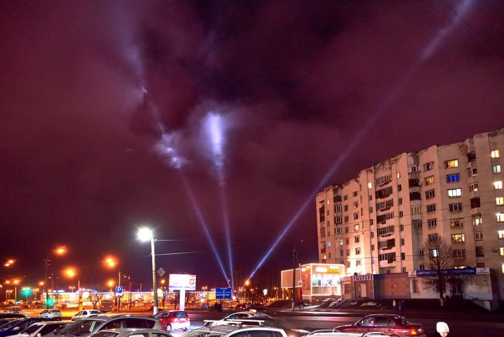 Новогоднее небо во Владимире ( январь 2018) 01