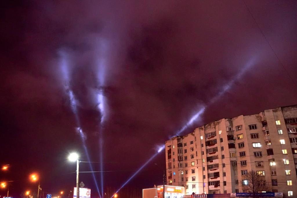 Новогоднее небо во Владимире ( январь 2018) 03
