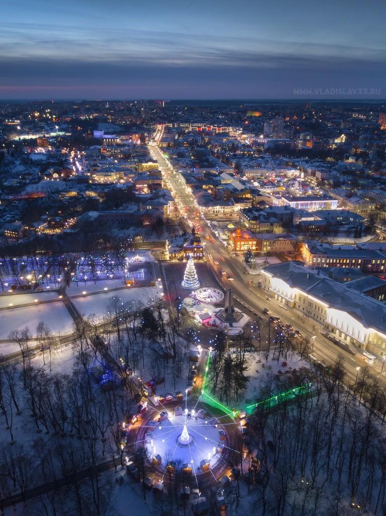 Новогодний Владимир 2018 с высоты