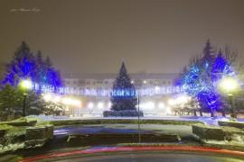 Новогодняя атмосфера на площади Мурома (Вербовский микрорайон, площадь Прокуророва)