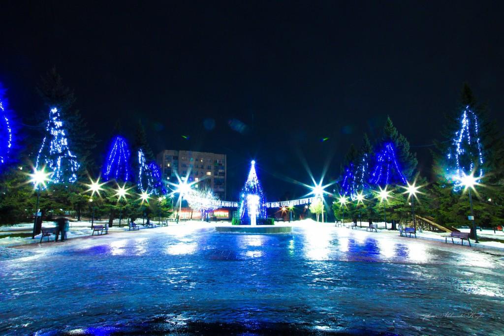 Новогодняя атмосфера на площади Мурома (Вербовский микрорайон, площадь Прокуророва) 05