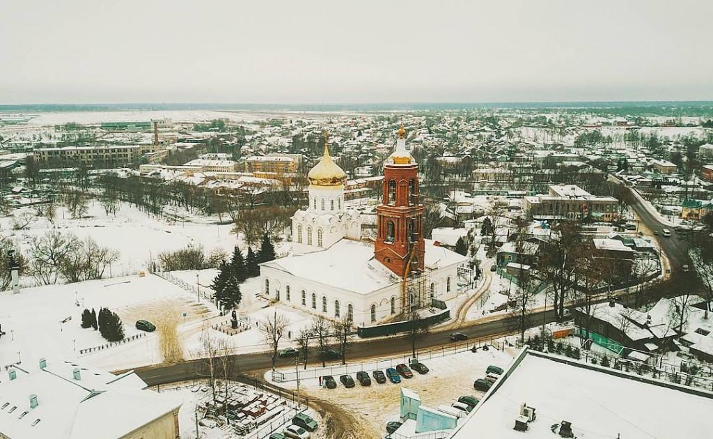 Собор Рождества Христова в Александрове, вид с высоты.