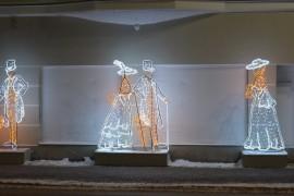 Украшение новогоднего Владимира. У закрытого кинотеатра «Художественный»