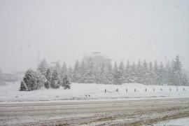 Александров в зимней хмари. 2009 год.