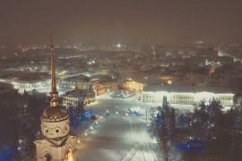 Владимир снежной ночью (февраль 2018)