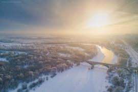Зима, Владимир, мост через Клязьму