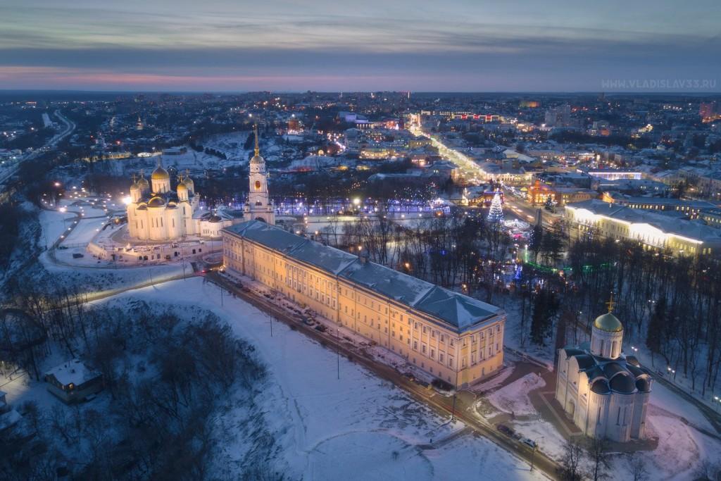 Зимний ночной Владимир с высоты (январь 2018) 02