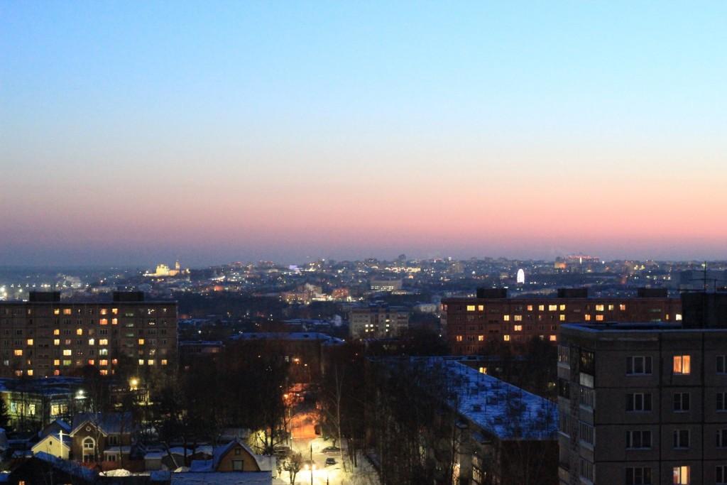 Какой красивый сегодня закат во Владимире 01