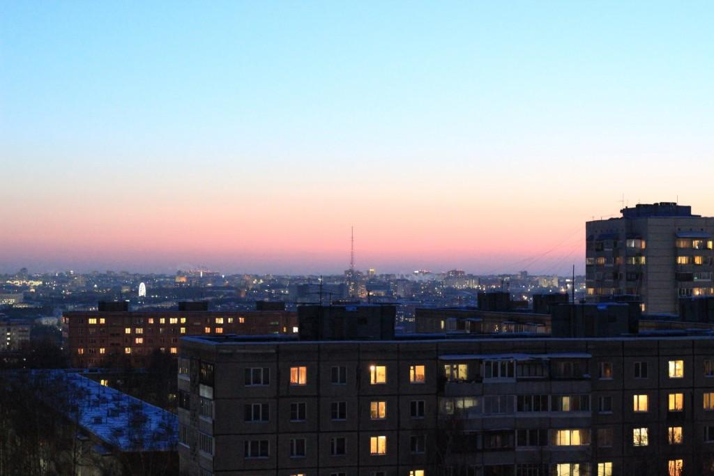 Какой красивый сегодня закат во Владимире 02