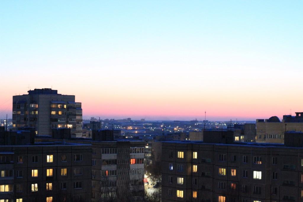 Какой красивый сегодня закат во Владимире 03