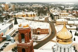 Купола собора Рождества Христова в Александрове.