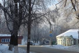 Морозная синь во Владимире