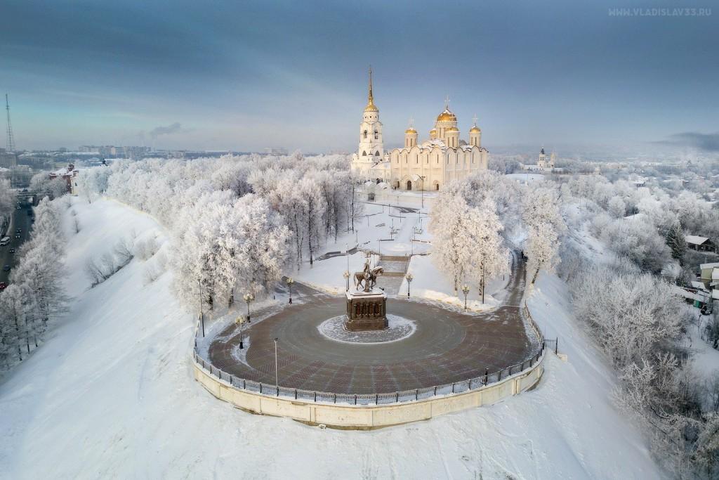 Морозный Владимир с высоты (январь 2018)