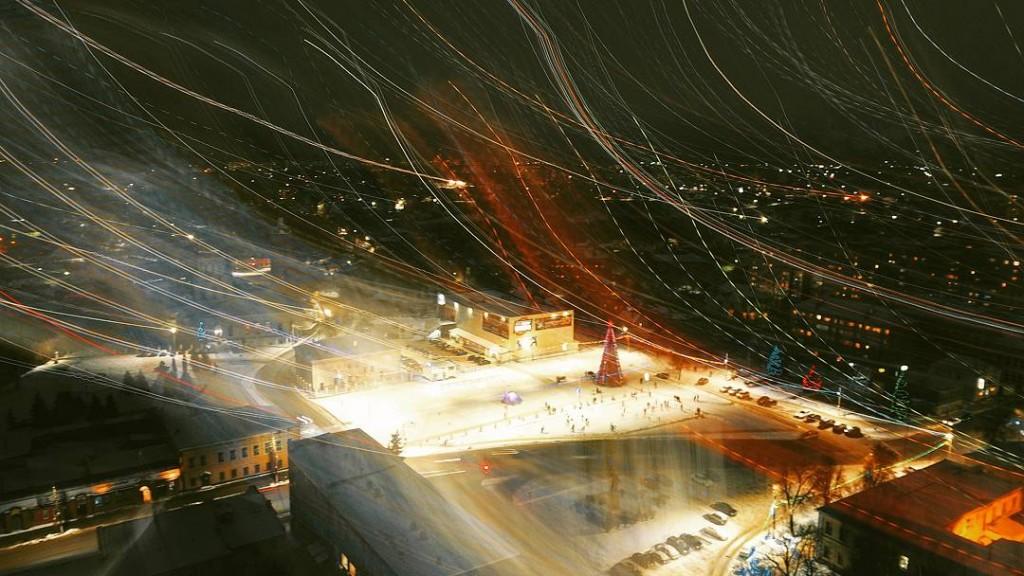 Новогодний Александров (фото с увеличенной выдержкой)