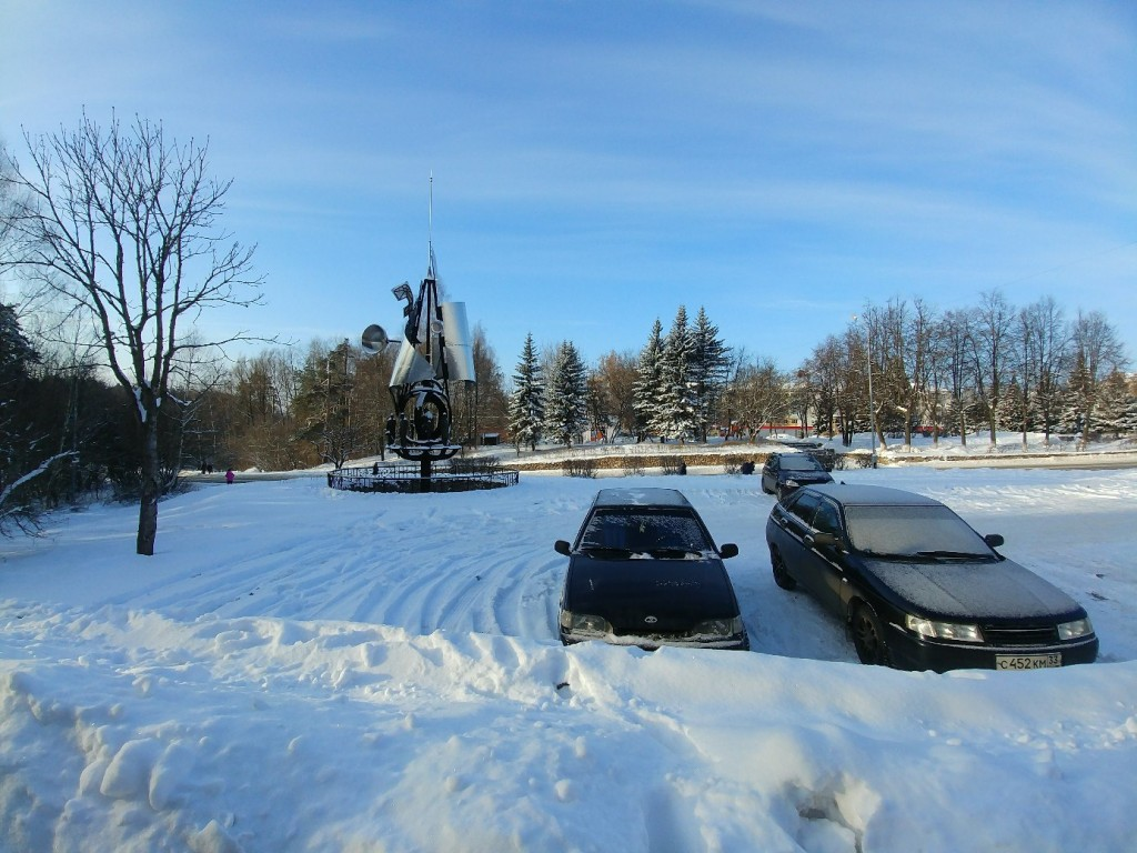 Снежный солнечный январский день на Вербовском