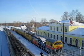 Станция Гороховец в зимний солнечный день