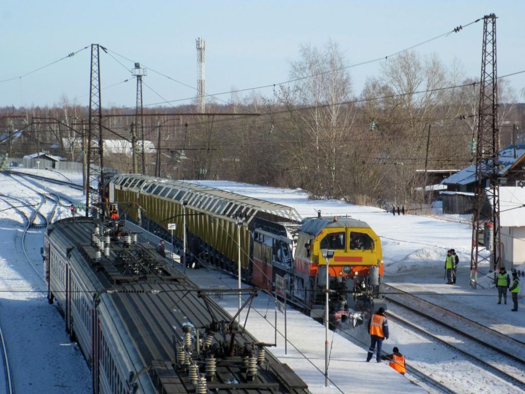 Станция Гороховец в зимний солнечный день 02