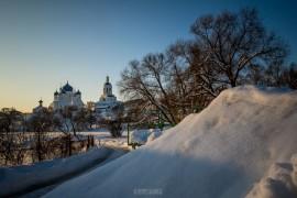 Февральский закат в Боголюбово