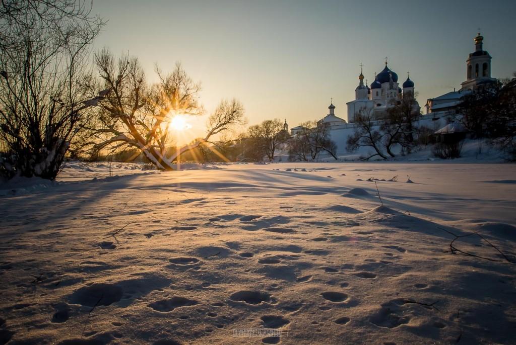 Февральский закат в Боголюбово 03