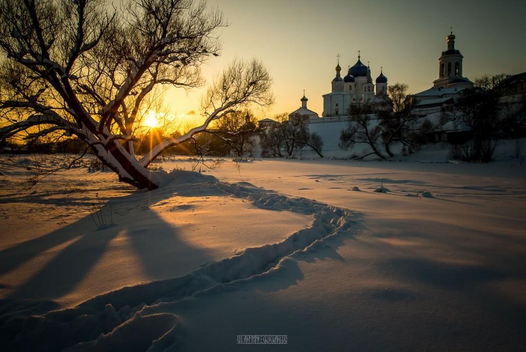 Февральский закат в Боголюбово 04