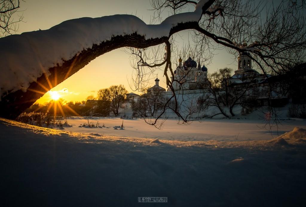 Февральский закат в Боголюбово 06