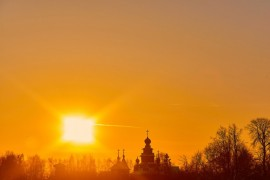 Февральский закат в Суздале