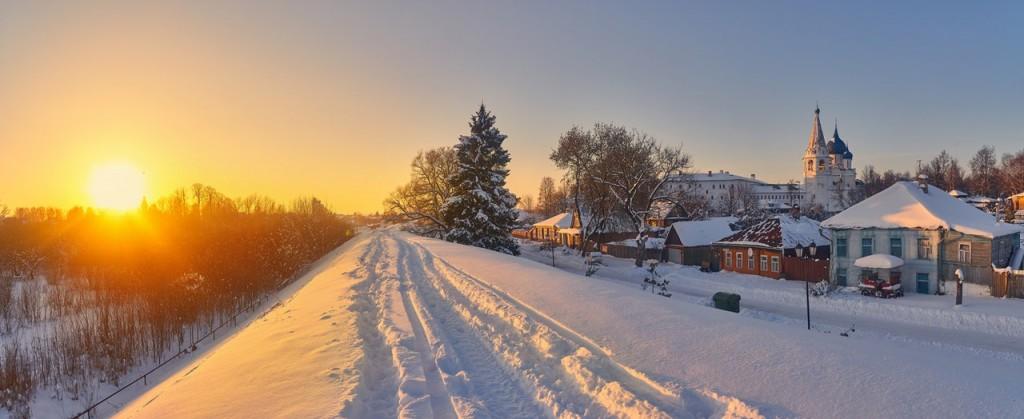 Февральский закат в Суздале 05