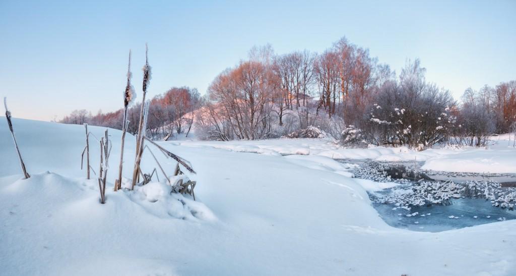 Февральское утро на реке Серой, Александров 02