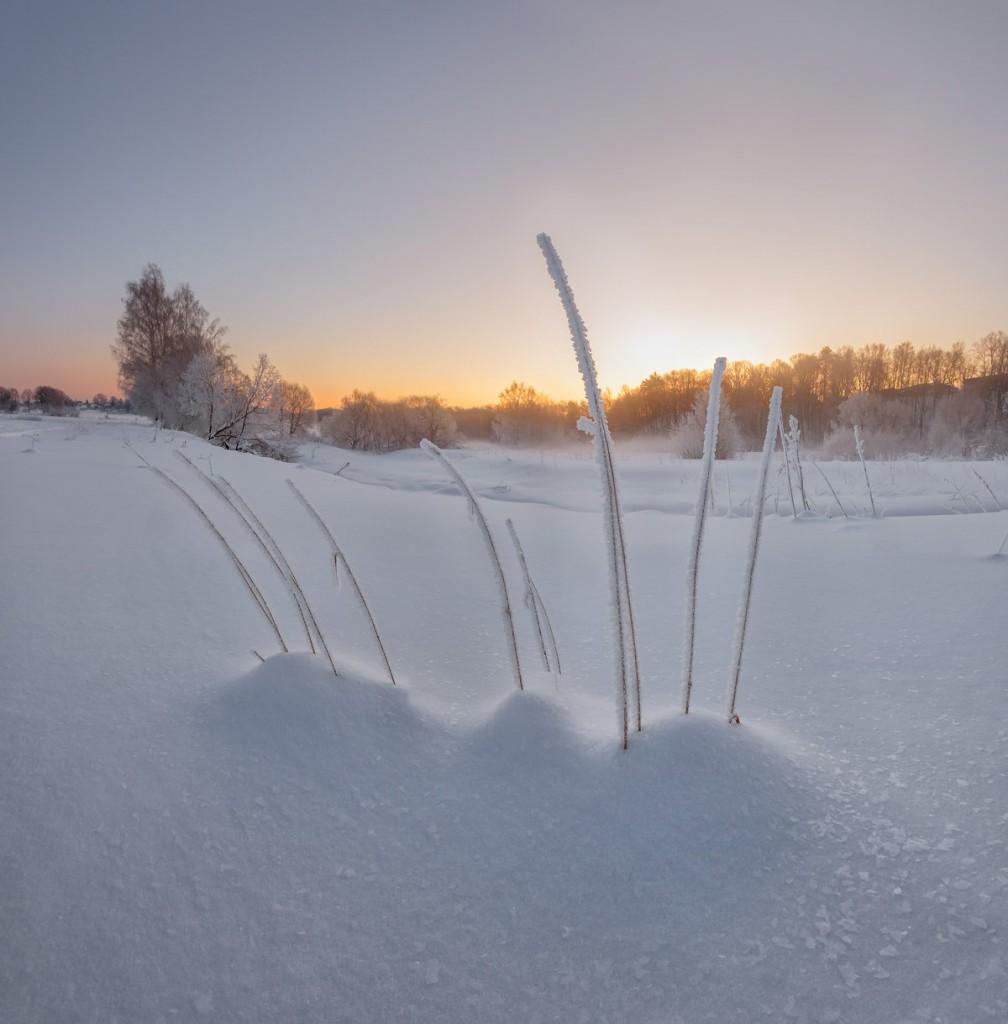 Февральское утро на реке Серой, Александров 03