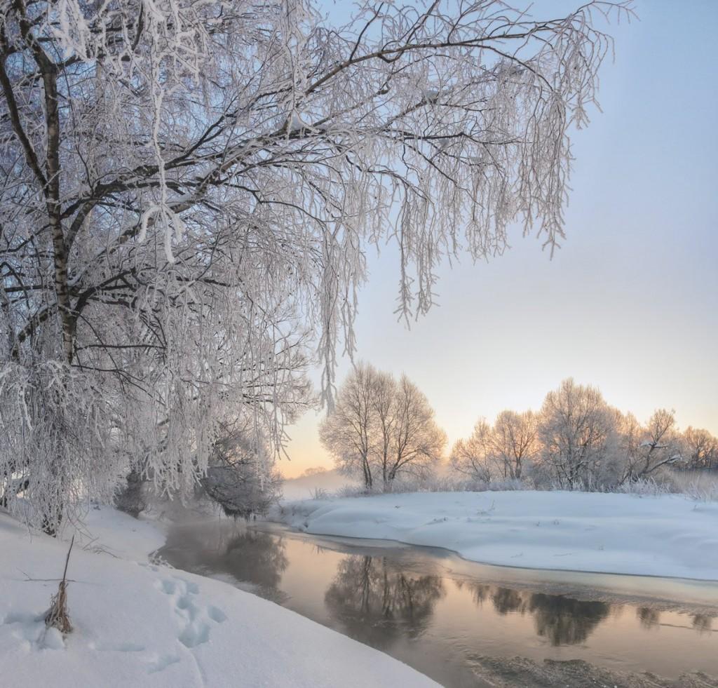 Февральское утро на реке Серой, Александров 04