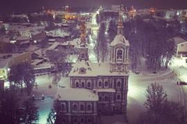 Церковь Усекновения главы Иоанна Предтечи (Никитская) во Владимире ночью