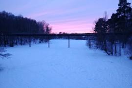 Багряный закат на Вербовском