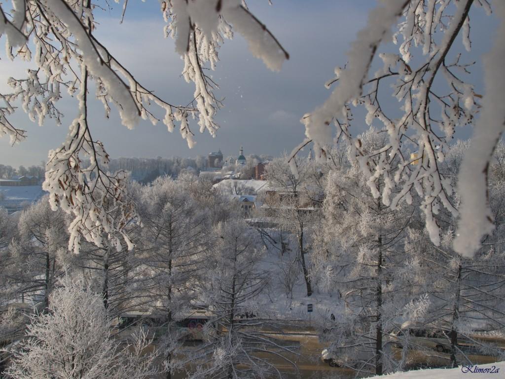 Владимир, Вид с Пушкинского сквера, январь 2018