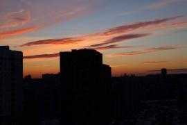 Закат на ул. Нижняя Дуброва, Владимир
