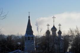 Морозное утро в Вязниках 1 марта