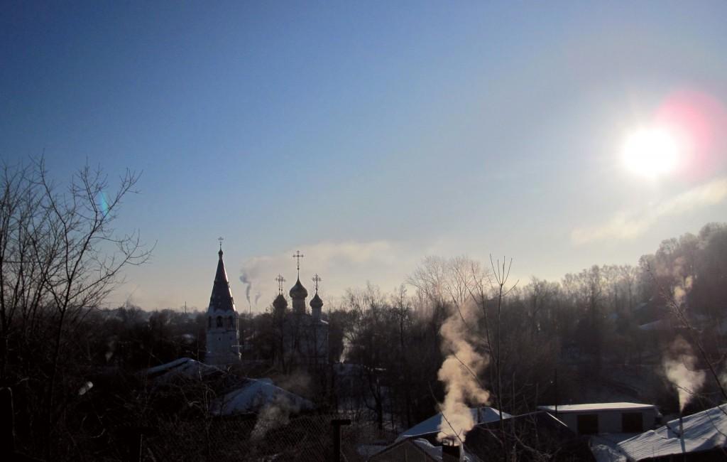 Морозное утро в Вязниках 1 марта 02