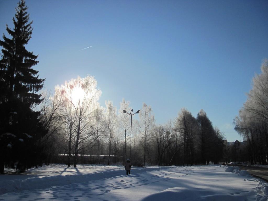 Морозное утро в Вязниках 1 марта 04