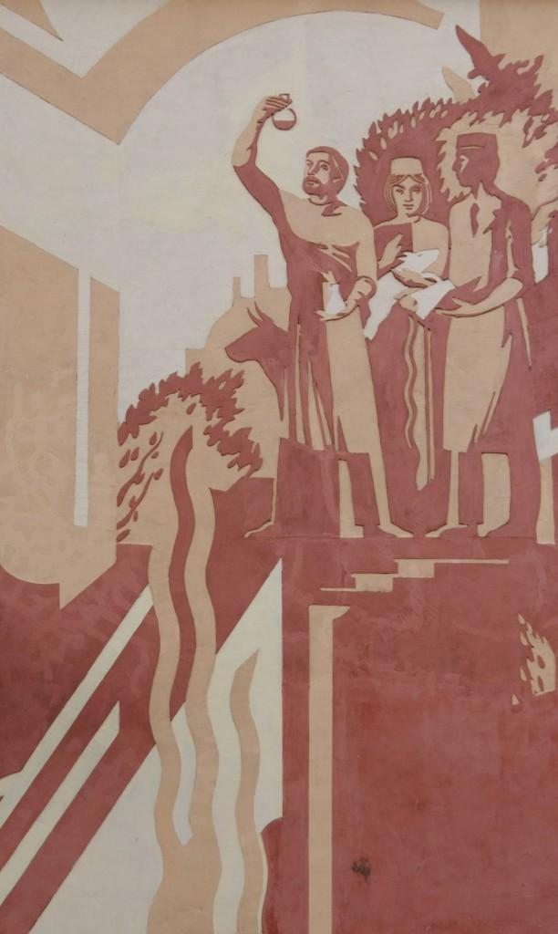 Оформление стен покровской детской школы искусств в советском стиле 03