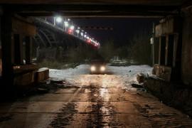 Под мостом через Клязьму
