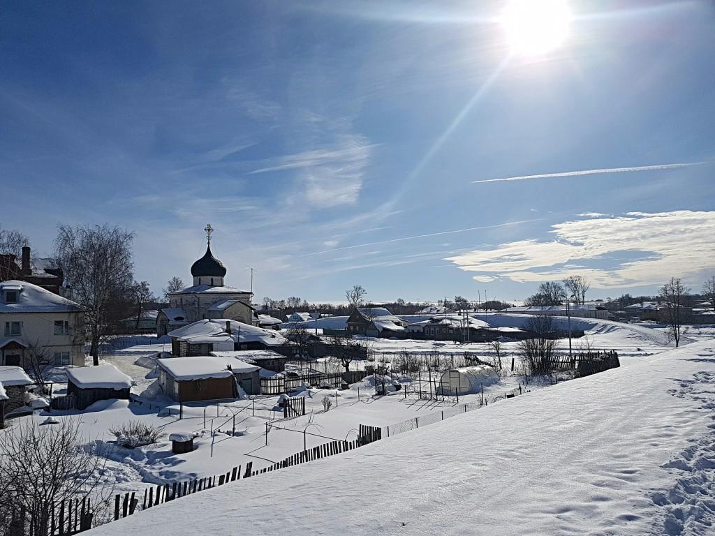 Юрьев-Польский. Март. Виды центра с высоты валов 01