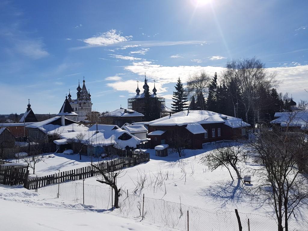 Юрьев-Польский. Март. Виды центра с высоты валов 02