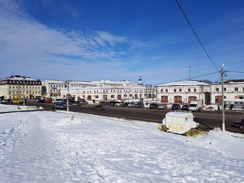 Юрьев-Польский. Март. Виды центра с высоты валов 05