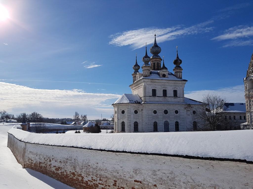 Юрьев-Польский. Март. Виды центра с высоты валов 06