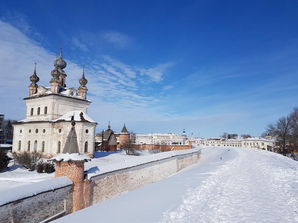 Юрьев-Польский. Март. Виды центра с высоты валов 09