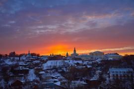 Апельсиновый закат над Владимиром