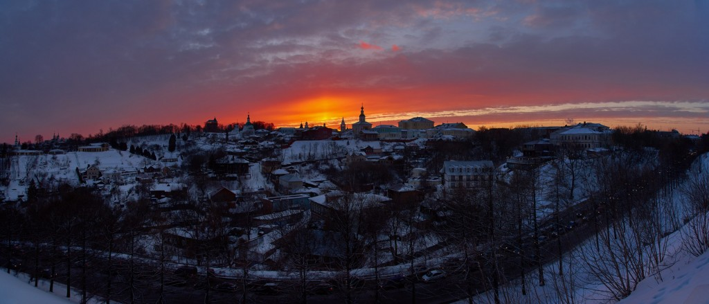 Апельсиновый закат над Владимиром 07