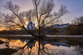 Апрельский закат в Боголюбово Бориса Пучкова