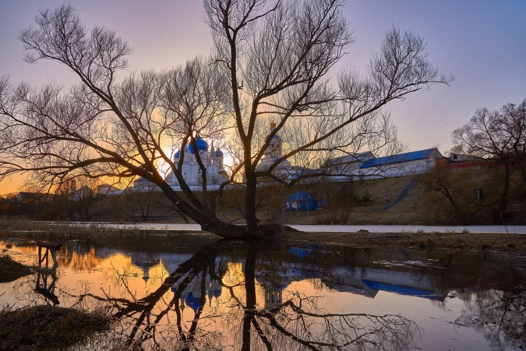 Апрельский закат в Боголюбово 01